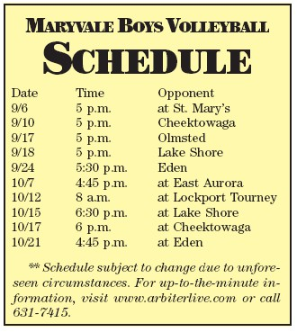 Juniors to take center stage for Maryvale boys volleyball